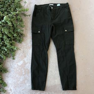 Good American Good Legs Forest Green Cargo Pants